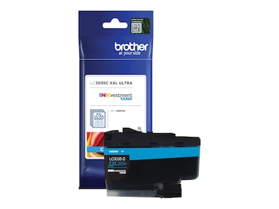 Brother Cyan LC3035C INKvestment Tank Ultra High Yield Ink Cartridge, LC3035C, 35855594, Ink Cartridges & Ink Refill Kits - OEM