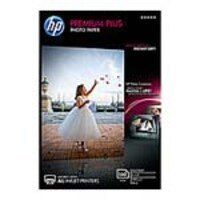 HP 4 x 6 Premium Plus Glossy Photo Paper (100 Sheets), CR668A, 12896730, Paper, Labels & Other Print Media