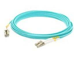 ACP-EP OM4 Fiber Patch Cable, LC-LC, 50 125, Duplex, Multimode, Aqua, 8m, ADD-LC-LC-8M5OM4, 14702855, Cables