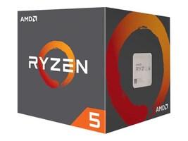 AMD Processor, AMD 6C Ryzen 5 1600 3.2GHz 3.6GHz Turbo 16MB L3 Cache 65W 2667MHz DDR4, YD1600BBAFBOX, 37818578, Processor Upgrades