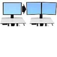 Ergotron Single-to-Dual LCD Mount Kit for WorkFit-C, 97-606, 13165550, Stands & Mounts - AV