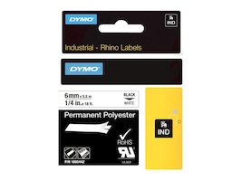 DYMO 1 4 Rhino White Permanent Poly Labels, 1805442, 13202533, Paper, Labels & Other Print Media