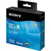 Sony 6x 25GB BD-R Media (10-pack Spindle Case Box w  Hang Tab), 10BNR25RNS, 13302227, Blu-Ray Media