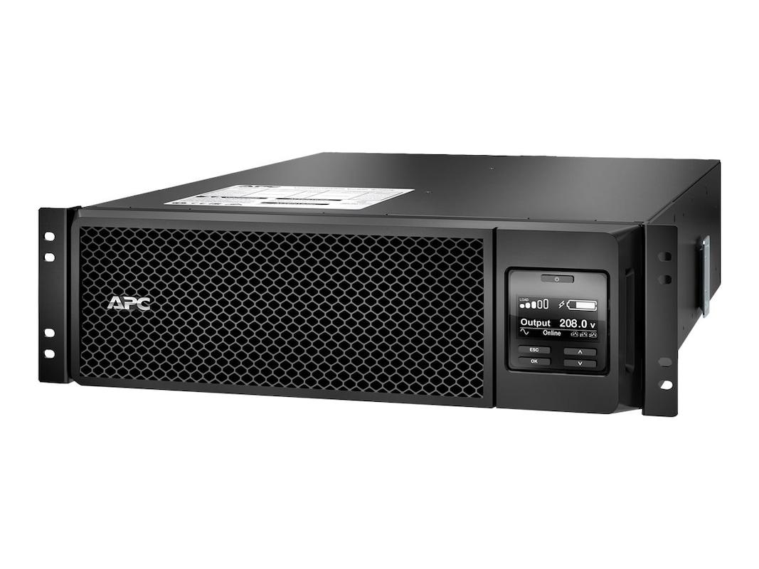 apc smart-ups srt 5000va 4250w 208v rm online extended runtime (4) outlets  internal bypass