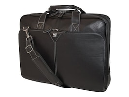 Mobile Edge Deluxe Leather Briefcase for 16 Screen, Black, MEBCL1, 10196166, Carrying Cases - Notebook