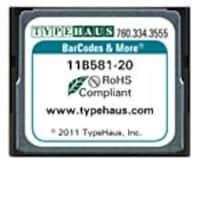 Typehaus Barcodes & More Fonts for Compact Flash HP Printers, 11B581-20, 13665984, Printer Accessories