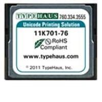 Typehaus HP LaserJet Compact Flash Device Unicode Printing Solution, 11K701-76, 13666178, Printer Accessories
