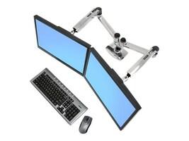 Ergotron LX Dual Side-by-Side Arm Mount, 45-245-026, 10955708, Stands & Mounts - Desktop Monitors