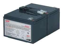 APC Replacement Battery Cartridge #6 for SU700, SU1000, SU1000NET, SM1500RM models, RBC6, 58493, Batteries - Other