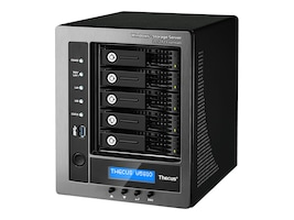 Thecus Tech 5 Bay Window Storage Server NAS  Intel Quad-Core CPU   4GB RAM  License included, W5810, 31654120, Network Attached Storage