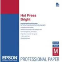 Epson 13 x 19 Fine Art Press, Two-Sided, Smooth Matte Cotton Rag Paper, Bright, 25-Sheets, S042330, 14620569, Paper, Labels & Other Print Media