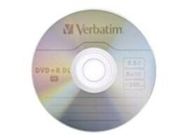Verbatim 2.4X 8.5GB Branded DVD+R DL Media (20-pack Spindle), 95310, 7005584, DVD Media