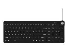 Man & Machine Really Cool Low Profile Keyboard, Black, RCLP/B5-LT, 17103479, Keyboards & Keypads