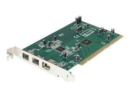 StarTech.com 3-Port 2b 1a PCI 1394b FireWire Adapter Card with DV Editing Kit, PCI1394B_3, 4919559, Controller Cards & I/O Boards