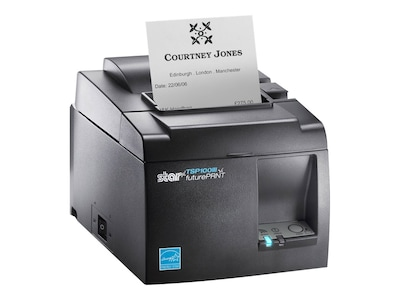 Star Micronics TSP143IIIW GY Thermal WLAN WPS Push-n-Con Printer w  Auto Cutter, 39464710, 31469629, Printers - POS Receipt