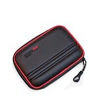 Mobile Edge Portable Hard Drive Carrying Case, Small, Black Red, MEHDC17S, 15281853, Carrying Cases - Other