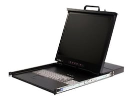 StarTech.com 19in Rack Mount LCD Console with Integrated 8 Port KVM Switch, 1U, RACKCONS1908, 12552401, KVM Displays & Accessories