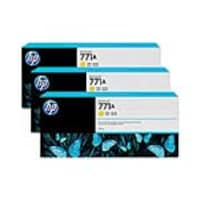 HP 771A 775-ml Yellow Designjet Ink Cartridges (3-pack), B6Y42A, 15709258, Ink Cartridges & Ink Refill Kits - OEM