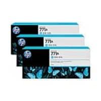 HP 771A 775-ml Light Cyan Designjet Ink Cartridges (3-pack), B6Y44A, 15709274, Ink Cartridges & Ink Refill Kits - OEM