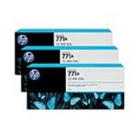 HP 771A 775-ml Light Gray Designjet Ink Cartridges (3-pack), B6Y46A, 15709291, Ink Cartridges & Ink Refill Kits - OEM