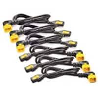 APC Power Cord Kit, Locking, R A, C13 to C14, 4ft 1.2m, North America (qty 6), AP8704R-NA, 15801644, Power Cords