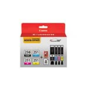 Canon PGI-250 CLI-251 4 Color Combo Pack, 6497B004, 15901231, Ink Cartridges & Ink Refill Kits