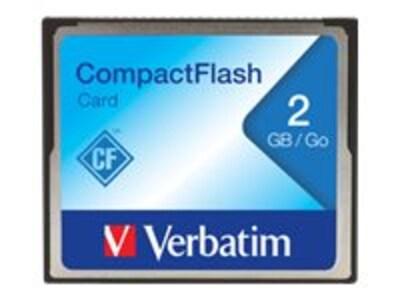 Verbatim 2GB CompactFlash Card, 47012, 443805, Memory - Flash