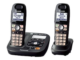 Panasonic KX-TG6592T DECT 6.0 Cordless Phone with 2-Handsets, KX-TG6592T, 12910757, Telephones - Consumer