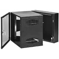 Hoffman ACCESSPLUS II Double-Hinge, Type 1 Wall-mount Cabinet, Windowed Front Door, 24x24x25, Black, EWMW242425, 16229977, Racks & Cabinets
