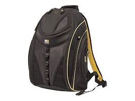 Mobile Edge 16 Express Backpack 2.0, Black w  Yellow Trim, MEBPE42, 35401939, Carrying Cases - Notebook