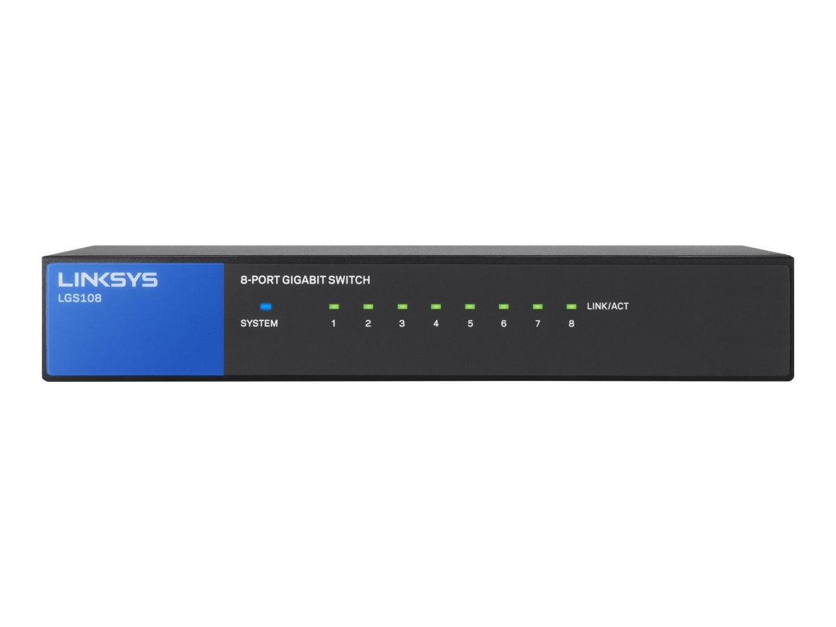 Linksys LGS108 DM Unmanaged Switch 8xGbE, LGS108, 16303591, Network Switches