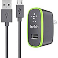Belkin Universal Home Charger, Micro-USB Charge Sync Cable, 10W 2.1A, Black, F8M667TT04-BLK, 16892971, Battery Chargers