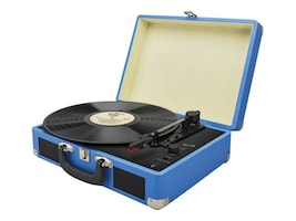GPX BT Turntable - Briefcase Style, ITTB476BU, 33252538, Stereo Components