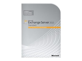 Microsoft Exchange Server 2010 Standard CAL 5 User, 381-04125, 11132586, Software - Collaboration