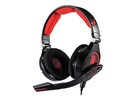Thermaltake Cronos Gaming Headset with Microphone, Black Red, HT-CRO008ECBL, 16054521, Headsets (w/ microphone)