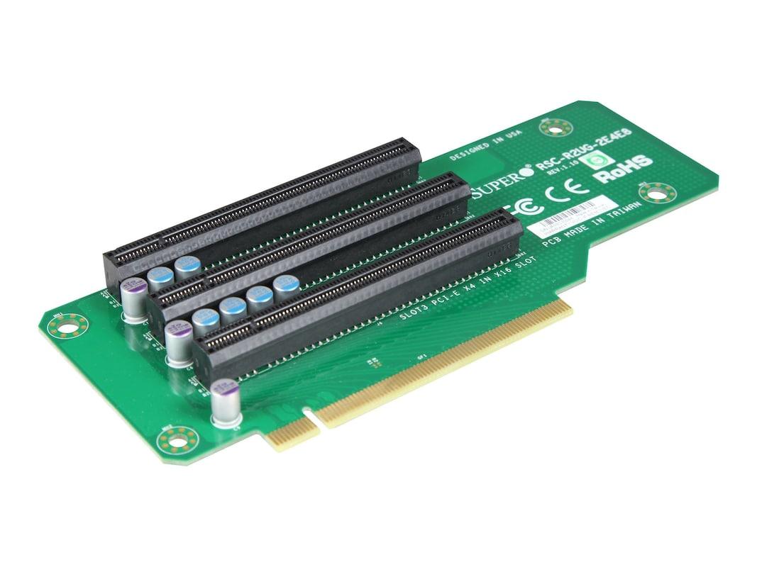 Supermicro Riser Card, 2U PCIE 2xPCIEX4, 1xPCIEX8, All in PCIEX16 Slots