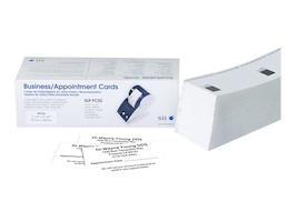 Seiko 2.25 x 3.5 Business Appointment Card Labels (600 Cards), SLP-FCS2, 8148296, Paper, Labels & Other Print Media