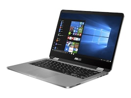 Asus VivoBook Flip Celeron N3450 1.1GHz 4GB 64GB SSD ac BT WC 2C 14 FHD MT W10H64, TP401NA-YS02, 34939657, Notebooks - Convertible