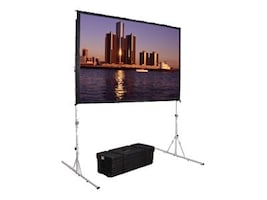 NEC Fast-Fold Deluxe Projection Screen, Foldable Black-Backed Da-Mat, 16:9, 62 x 108, 88605HD, 19013418, Projector Screens