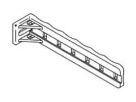 "Chatsworth White Nylon Standoff Tie Bracket 1""W X 5""L 50-Pack, 10001-050, 5467507, Rack Mount Accessories"