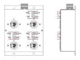 Eaton UPS Extension ePDU 5.76kVA 208-240V 1-phase 24A 0U RM L6-30P Input 6ft Cord (4) L6-20R Outlets, LPC208-2-2885, 10070125, Power Distribution Units