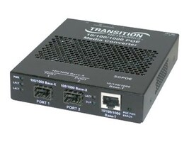 Transition Gigabit PoE Media Converter 10 100 1000BT To 1000BSX MM SC, SGPOE1013-100-NA, 9699920, Network Transceivers