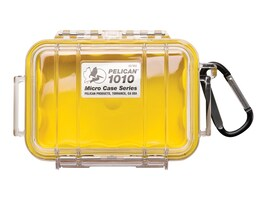 Pelican 1010 MICRO CASE YELLOW SOLID   CASECOVER W LINER 4.37X2.87X1.68, 1010-025-240, 36660166, Carrying Cases - Other