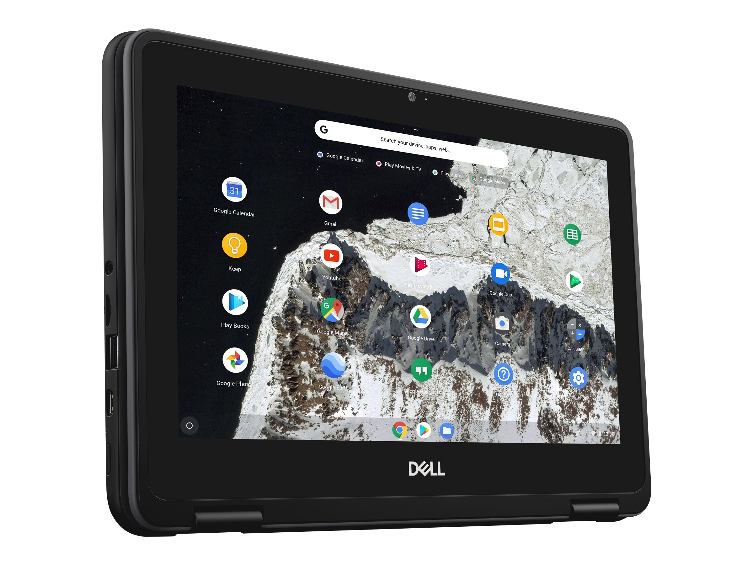 Dell Chromebook 11 3100 2-in-1 Celeron N4000 1 1GHz 4GB 32GB eMMC ac BT WC  11 6