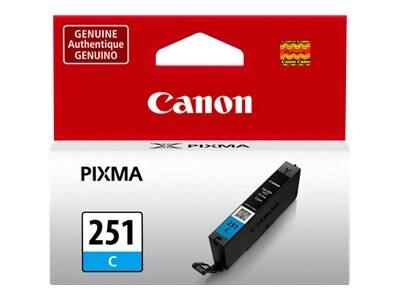 Canon Cyan CLI-251C Ink Tank, 6514B001, 15186696, Ink Cartridges & Ink Refill Kits - OEM
