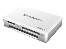 Transcend All-In-One USB 3.0 Super Speed Multi-Card Reader, White, TS-RDF8W, 17006038, PC Card/Flash Memory Readers