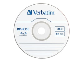 Verbatim 6x 50GB Branded BD-R DL Media (3-pack Jewel Csse Box), 97237, 11783426, Blu-Ray Media