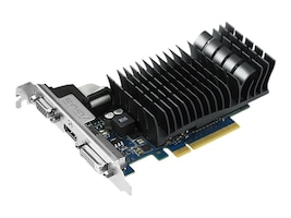 Asus NVIDIA GeForce GT 730 PCIe 2.0 Graphics Card, 1GB GDDR3, GT730-SL-1GD3-BRK, 17491993, Graphics/Video Accelerators