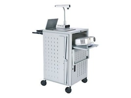 Bretford Manufacturing Pal Multimedia Presentation Cart with Electrical, Gray Mist, TCP23FF-GM, 10940573, Computer Carts
