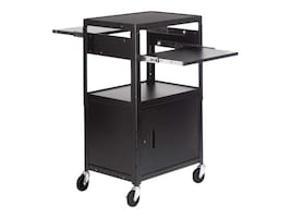 Bretford Manufacturing Multimedia Cable Cart, 5in Casters, 6 Outlets, Black, CA2642DNS-E5, 13503694, Computer Carts